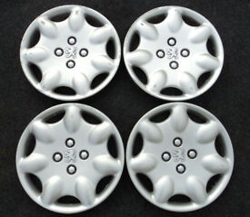 "Peugeot 13"" OPUS Wheel trims SET OF FOUR Hub Caps Covers 106 206"