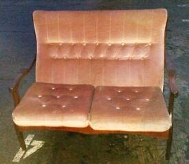 Vintage Sofa & Matching Rocking Chair