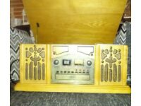 Vintage style stereo with Turntable cd & tape cassette player