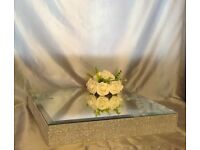 Can Post Large Mirror Top Wedding Birthday Christening Anniversary Baby Shower Cake Display Stand