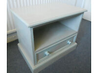 Painted Solid Pine Cabinet with Drawer, TV Stand