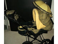 STUNNING 2 IN 1 PRAM/PUSHCHAIR, COST ME £600 NEW