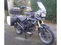 2012 Triumph Tiger 800 with lots of extras