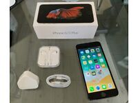 Space Grey Apple Iphone 6s Plus 16GB Factory Unlocked To All Networks + Warranty