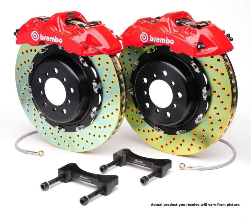 Brembo Gt Bbk Big Brake Kit 6pot Front For 2007+ Audi Tt 2009+ Tts 8j 1m1.8033a2
