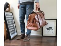 Vintage Stylish Leather Doctor Bag (unisex)