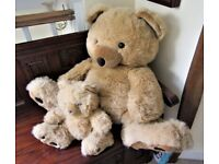 VINTAGE SUPER LARGE 64 cm TEDDY BEAR AND HER CUB only been on display !!