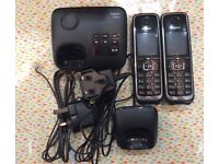 Gigaset C530A Twin Cordless Home Phone with Answering Machine Loudspeaker Duo