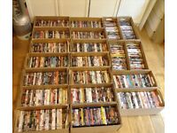 Large lot of 585 DVDs & bluray collection ideal for car boot or market excellent condition