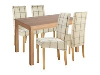 EX DISPLAY Argos Home Clifton Oak Dining Table & 4 Chairs - Cream Check