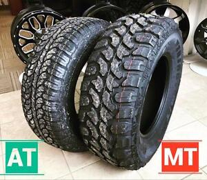 MUD TIRES AND ALL TERRAINS !!!! FREE SHIPPING ANYWHERE IN CANADA!!! BEST DEALS!!!