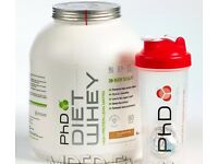 Diet whey protein powder - chocolate peanut flavour