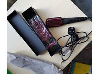 2-in 1 Ionic Hair Straightener Brush