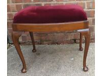 Piano Stool - Red Draylon cover