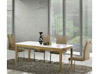 SALEWAS 449 White High Gloss MDF Large Dining Table 4