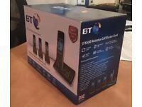 BT digital Cordless phone with answering machine - quad