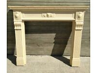 Marble Affect Fire Surround Width Is 51 Inches & Height Is 45 Inches £75 Can Deliver