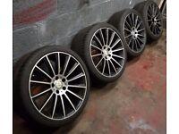 """2014 Genuine Mercedes E220 AMG 19"""" Alloys & Tyres"""