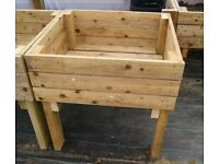 HANDMADE WOODEN RAISED PLANTERS