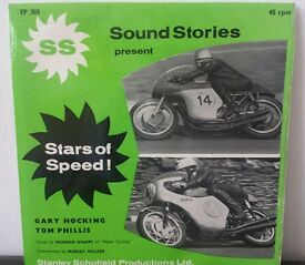 MURRAY WALKER SOUND STORIES ISLE OF MAN TT 45RPM RECORDS