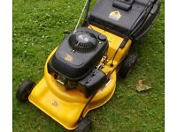 """EXTRA LARGE 20"""" JCB Petrol Lawnmower Fully Serviced SELF PROPELLED"""