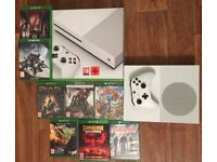 Microsoft xbox one s 500gb With 8 Games All mint condition