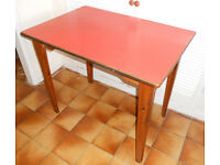 Retro Kitchen or Dining Table with Melamine Top