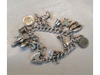 Bargain! Vintage Silver Charm Bracelet