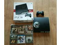 Ps3 Slim 160gb, boxed, all leads, 1 controller, 7 Games, Excellent Condition