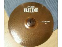 "Paiste Rude 18"" Crash/Ride cymbal"