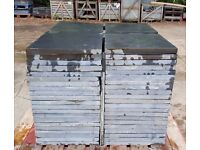 "Black Slate Paving & Patio Slabs - 40x40cm (16""x16"") - Factory Clearance - Discounts for Bulk"