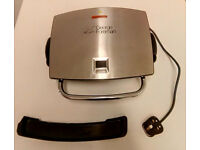 George Foreman 4-Portion Electric Grill with Removable Plates - Model 14525 Silver