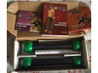 Zumba weights and DVD