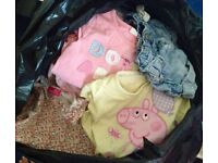 huge bag of girls clothes age 1-2 years