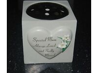 Memorial Flower bowl, graveside , garden, cemetary- Special MUM Grave or Garden Memorial