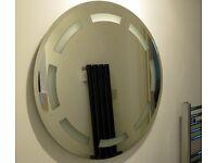 LARGE ROUND BATHROOM MIRROR 63cms