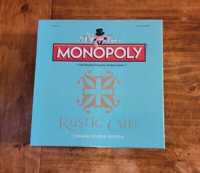 Factory Sealed Rustic Cuff Commemorative Edition Monopoly Game