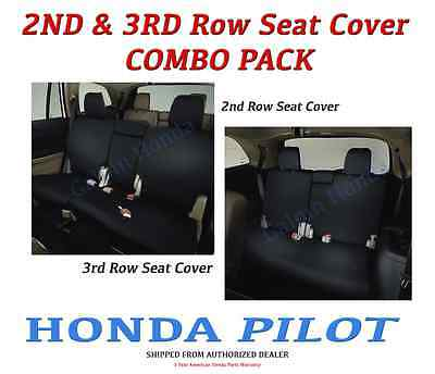 Genuine OEM Honda PILOT 2nd & 3rd Row Seat Covers for EX-L / Touring   (2nd 3rd Seat)