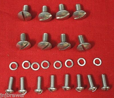 Mirror Polished Round Nose Ih Farmall Cub Hood Grill Dogleg Fastener Screw Kit