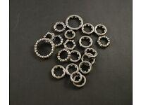 Full Speed Ahead Bearing Retainers Bike Bearings//Mr168//Black Sea//1//1//4//45
