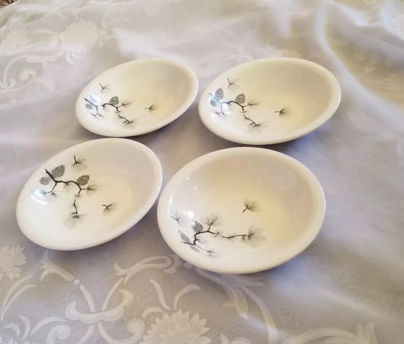 "Set Of 4 Harkerware Pinecone 5 3/4"" Berry Bowls"