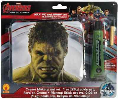 Avengers Hulk Peluca & Kit de Maquillaje Marvel Comics Accesorio Traje Halloween