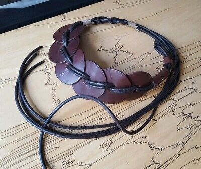 HENRY BEGUELIN Edgy Downtown Brown Leather Belt