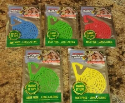 5 Pack Repelling Hanging Insect Mosquito Eliminator DEET FREE by EverGreen NEW