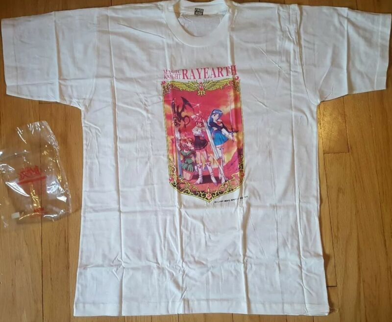 Vintage 1995 MAGIC KNIGHT RAYEARTH anime shirt L new NOS 90s Sailor Moon Clamp