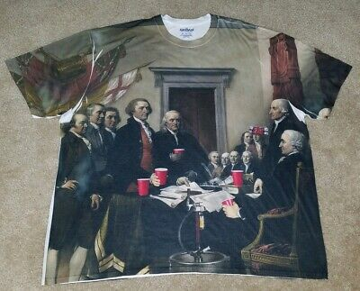 Gildan Declaration Of Independence Party Tshirt 3XL