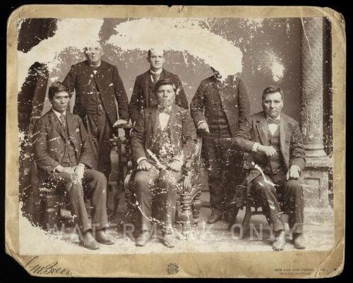 RARE Charles M Bell Photo Nez Perce Indian Delegation - Washington D.C. 1800s
