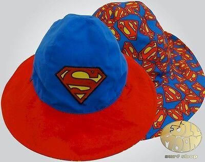 New Dc Comics Superman Reversible Childs Bucket Hat - Superman Bucket