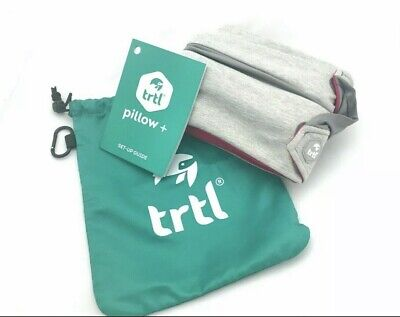 New – Trtl Pillow Plus Fully Adjustable Travel Neck Pillow with Carry Bag – Blur