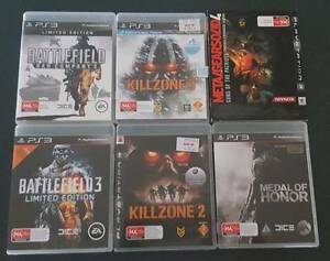 PS3 First person shooter pack 6 games Old Beach Brighton Area Preview